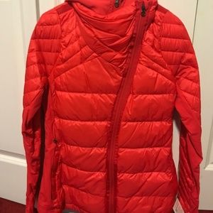 Lululemon What the Fluff Jacket w/ wind skirt NWT